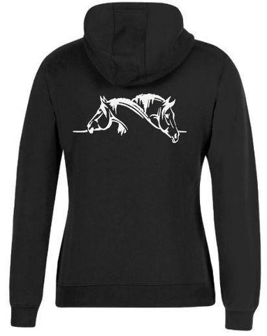 2-Horse-Head-Design-Hoodie-Hooded-Jumper