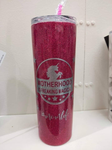 Motherhood is magical design choose your tumbler/bottle - Rhinestone Empire Equine