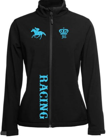 Racing-Black-Design-Soft-Shell-Jacket
