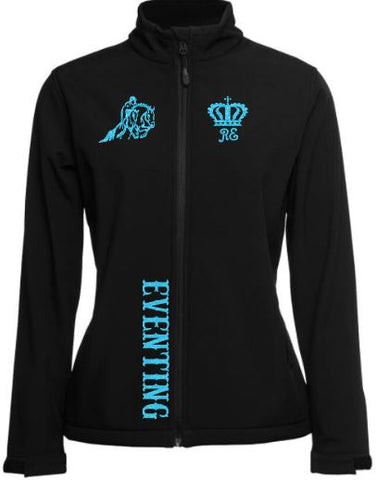 Eventing-Black-Design-Soft-Shell-Jacket