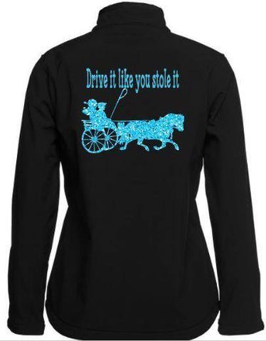 Drive it like you stole it pony Soft shell Jacket