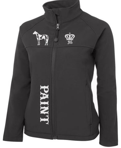 Paint-Horse-Black-Design-Soft-Shell-Jacket