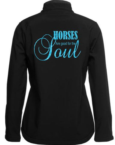 Horses are good for the soul soft shell Jacket