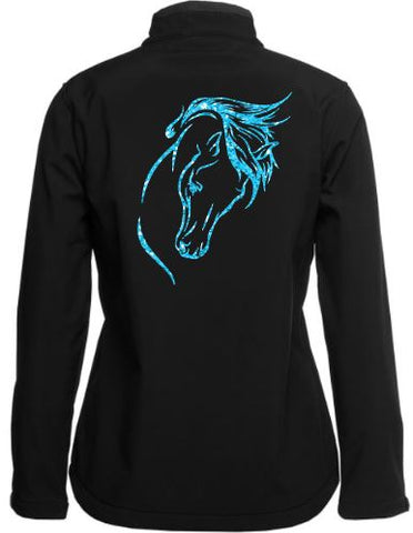 Horse-Head-Black-Design-Soft-Shell-Jacket