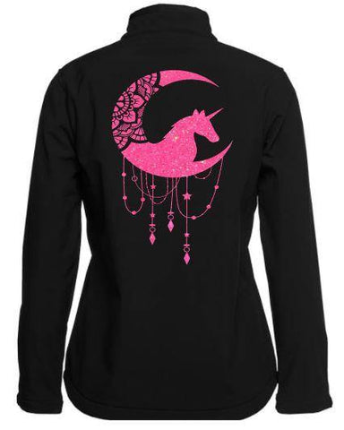 Unicorn-Moon-Design-Soft-Shell-Jacket