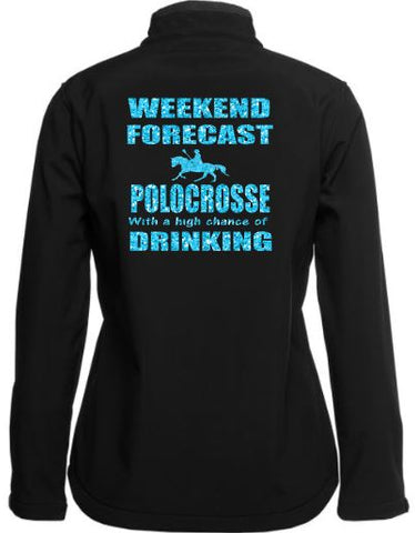 Weekend forecast  polocrosse drinking soft shell Jacket
