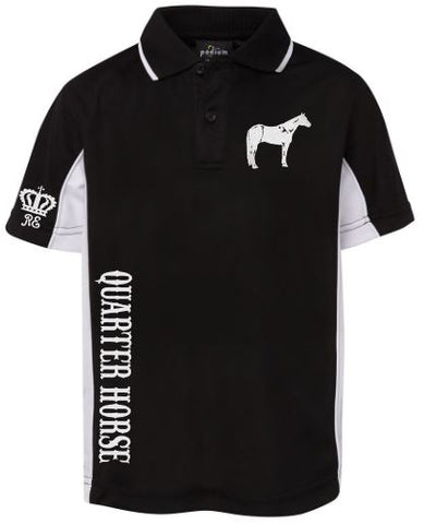 Quarter horse childs polo shirt