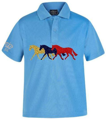 3 Pony child's polo shirt