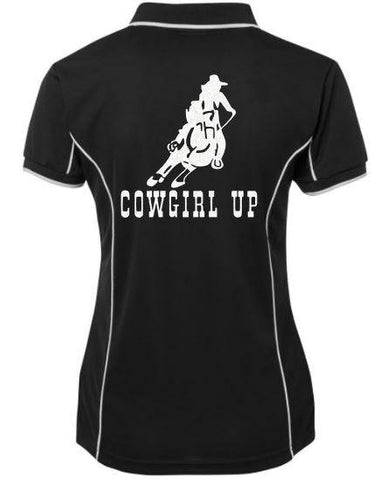 Cowgirl Up Polo Shirt - Rhinestone Empire Equine