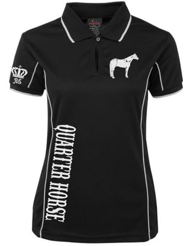 Quarter horse polo shirt Unisex sizes