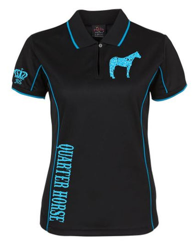Quarter-Horse-Design-Polo-Shirt