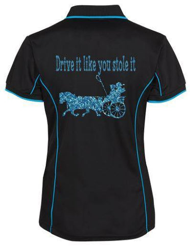 Drive it like you stole it pony  polo shirt