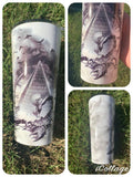 Smoke effect scorpion tattoo tumbler 700ml