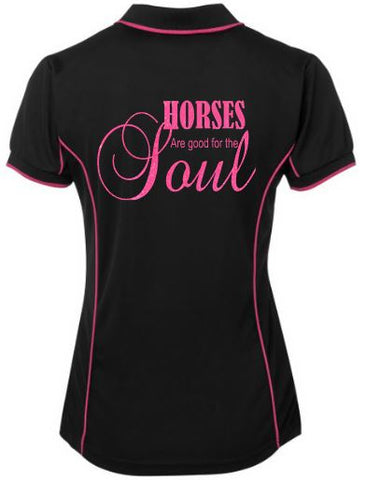 Horses are good for the soul polo shirt
