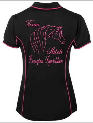 Team stitch custom - Rhinestone Empire Equine