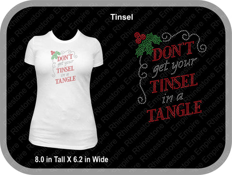 Tinsel in a tangle  Christmas T shirt