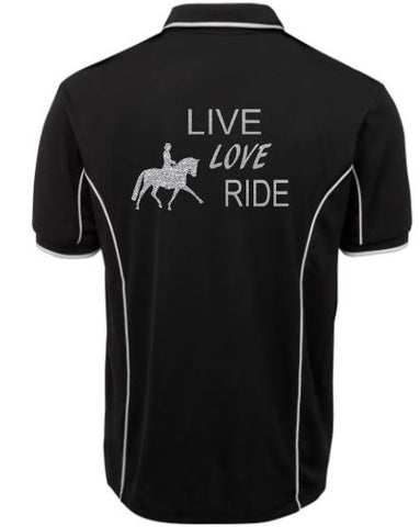 Live love ride polo shirt Unisex sizes