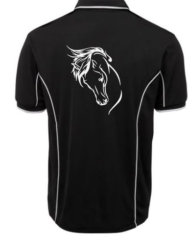 Horse-Head-Design-Polo-Shirt