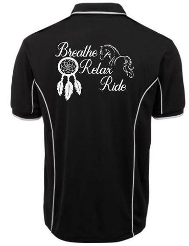 Breathe-Relax-Ride-Design-Polo-Shirt