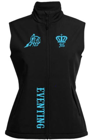 horse riding soft shell vest with eventing design