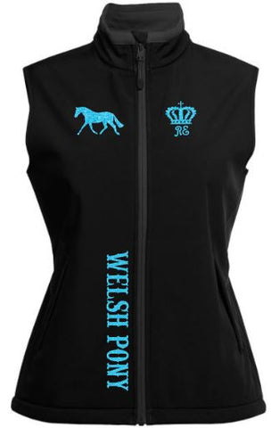 Welsh pony soft shell vest