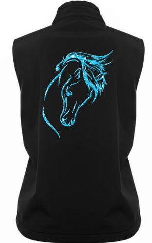 Horse head soft shell vest