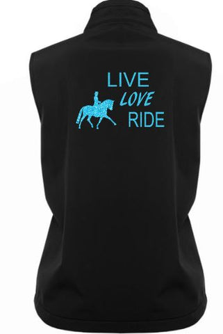 Live love ride soft shell vest