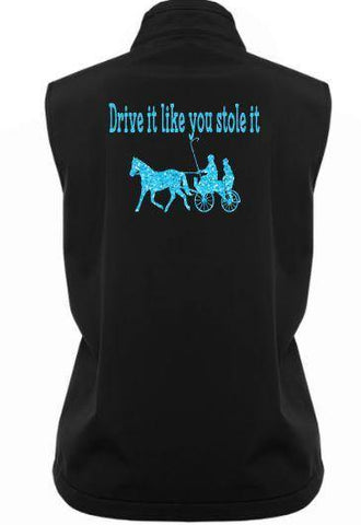 Drive it like you stole it harness soft shell vest