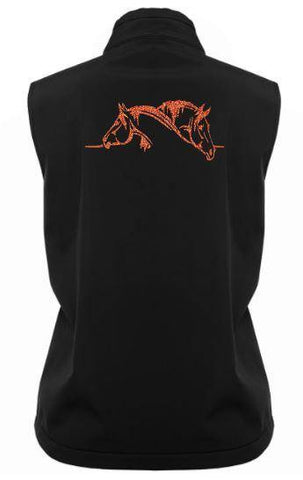 2-Horse-Head-Design-Soft-Shell-Vest