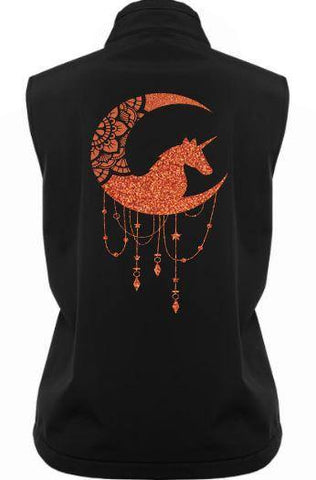 Unicorn-Moon-Design-Soft-Shell-Vest