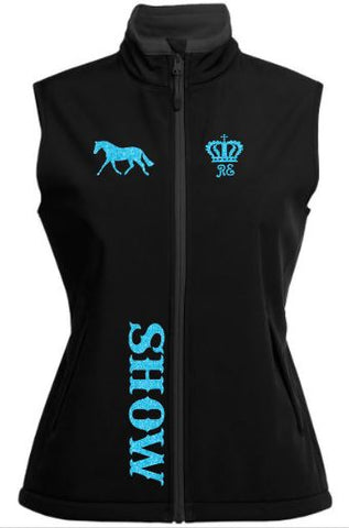 Show-Pony-Trot-Design-Soft-Shell-Vest