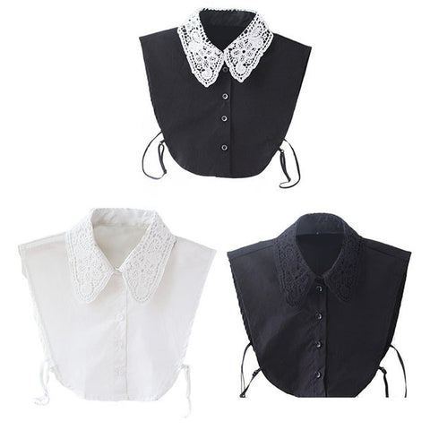 Fake Collar Blouse Detachable - DarkVibes