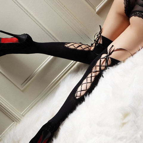 Tie me up Thigh High Stockings Pantyhose - DarkVibes
