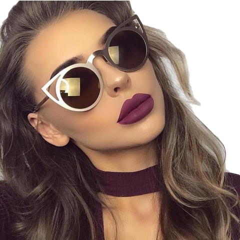 Metal Cat Eye Sunglasses - DarkVibes