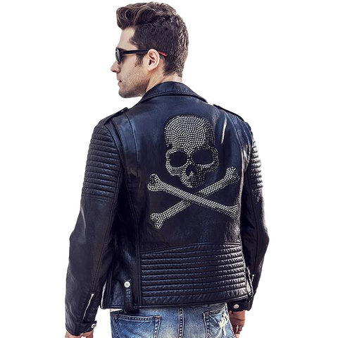 Men's Skull Imitation Leather Jacket