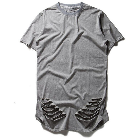 Oversized Mens T Shirt Kanye West T Shirt Men Ripped - DarkVibes