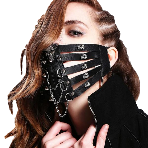 Skeleton Leather Motorcycle Masks for Men Women - DarkVibes