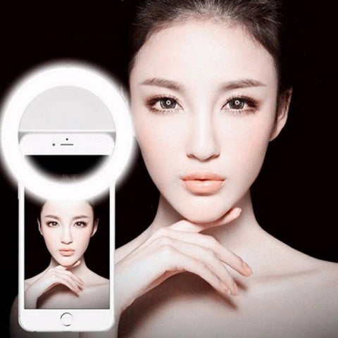 New Selfie Ring Light Portable Flash Led Camera P - DarkVibes