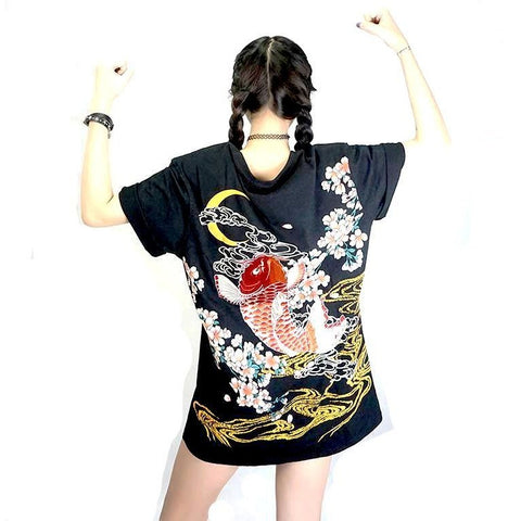 Dragon and Koi T-shirt Unisex Top FREE SHIPPING - DarkVibes