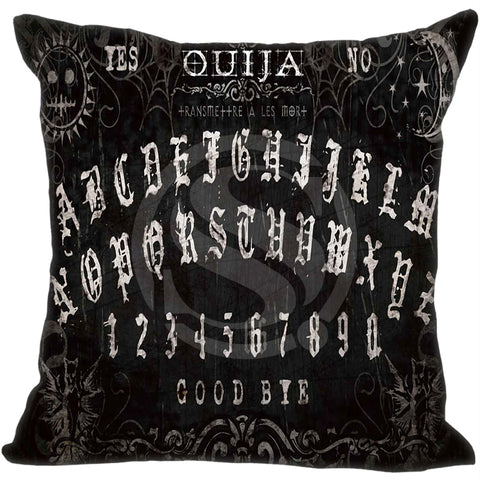 Ouija Board printing Pillowcase 16x16 inch (two sides)Zippered Pillow Cover