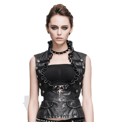 Steampunk Vintage Faux Leather Vests for Women - DarkVibes