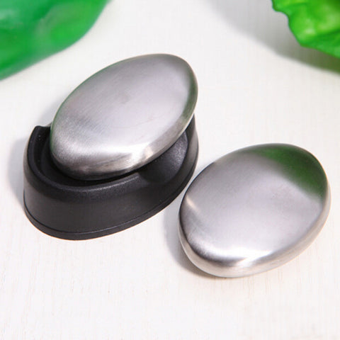 Home Useful Stainless Steel Soap - Oval Shape Deodorize Smell from Hands Retail Magic Eliminating Odor Kitchen Bar