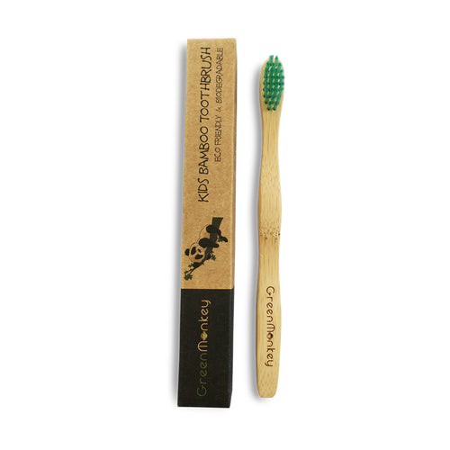Green Monkey Kids Bamboo Toothbrush - Green Monkey Bamboo Toothbrush