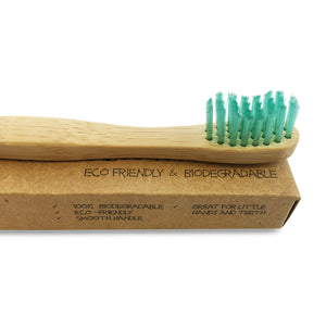 Green Monkey Kids Bamboo Toothbrush Family Pack