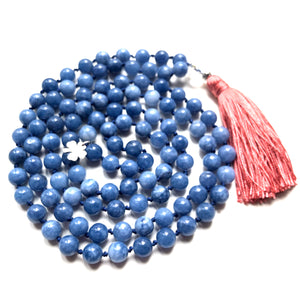 Jade Mala Beads, Clove, 108 Mala, Mala Necklace, Knotted Necklace, Yoga Jewelry, Meditation Beads