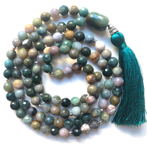 Agate Mala Beads, 108 Mala, Mala Necklace, Yoga Jewelry, Meditation Beads