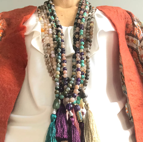 Custom 108 Mala Beads / A GIFT FOR YOUR SOUL