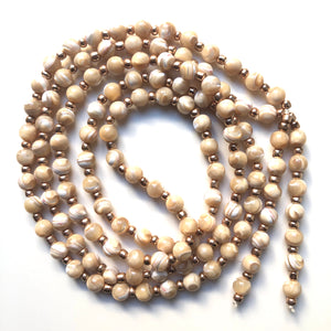 Mother of Pearl Mala Beads, 108 Mala, Mala Necklace, Yoga Jewelry, Karma Beads, Meditation Beads
