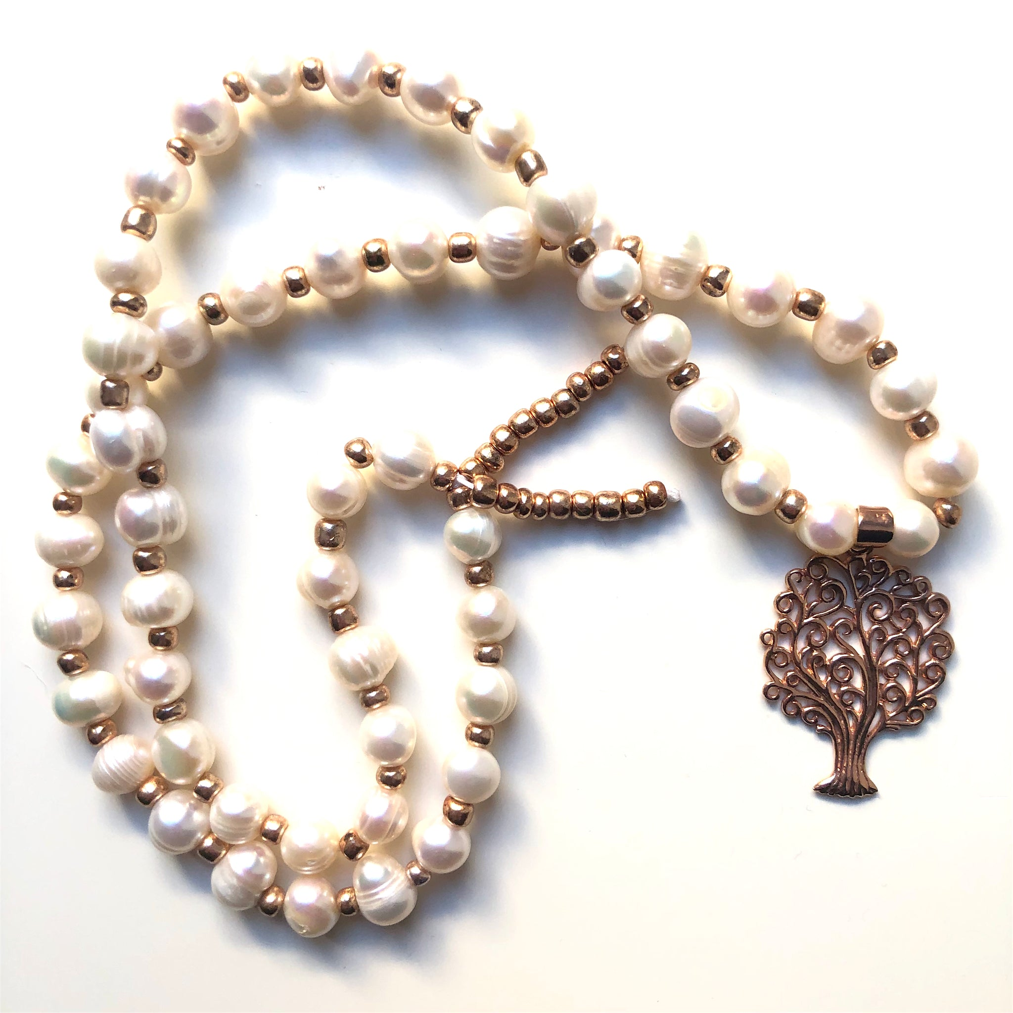 Pearl Mala Beads, 54 Mala, Mala Necklace, Yoga Jewelry, Meditation Beads