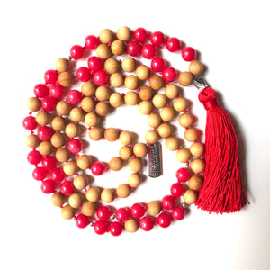 Red Jade Mala Beads, 108 Mala, Mala Necklace, Namaste Mala, Yoga Jewelry, Meditation Beads